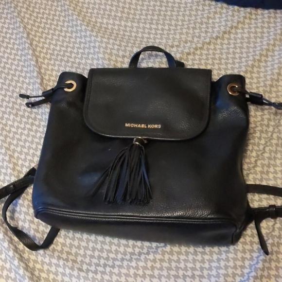 Michael Kors Bedford Leather Backpack Bucket Bag